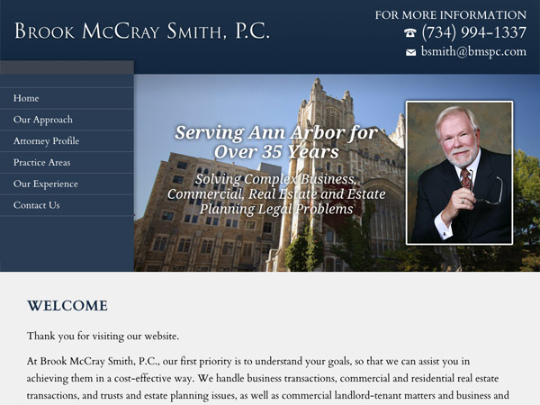 Mobile Friendly Law Firm Webiste for Brook McCray Smith, P.C.