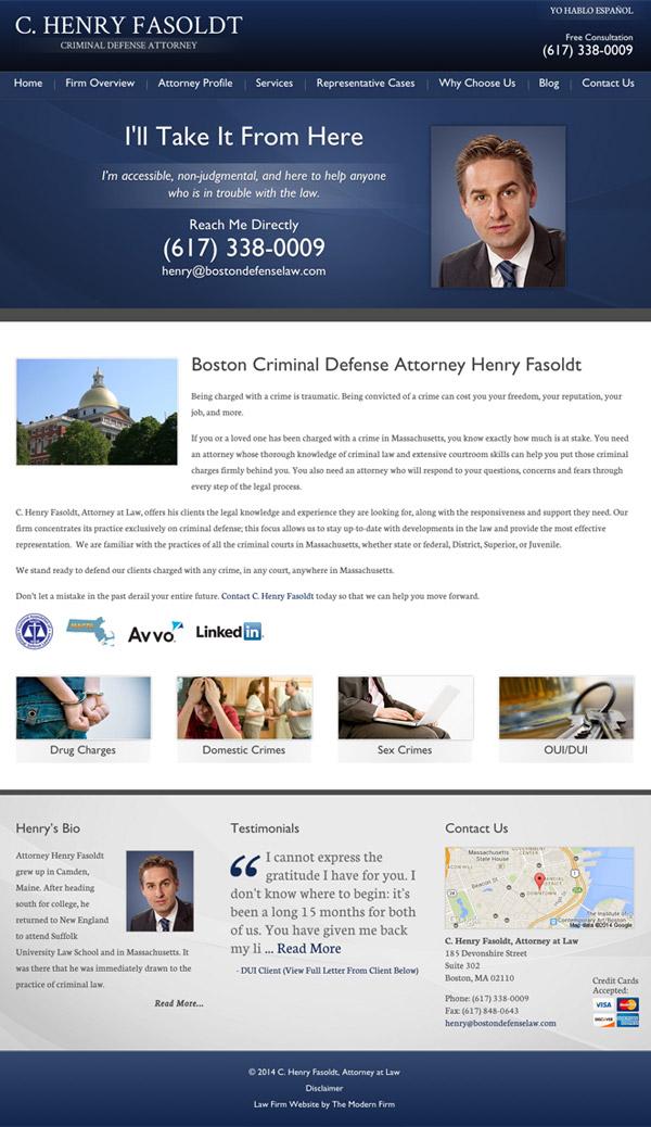 Law Firm Website Design for C. Henry Fasoldt, Attorney at Law