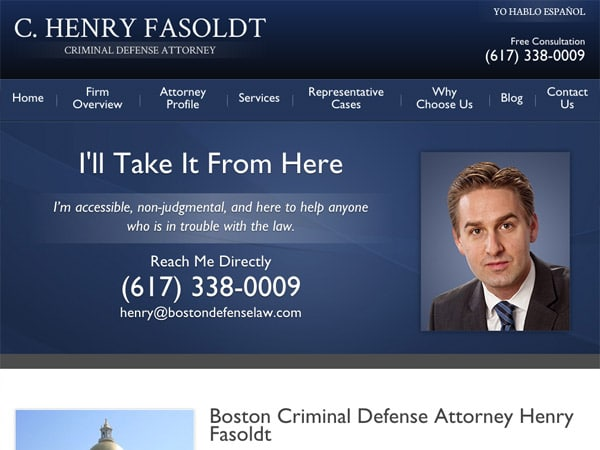 Mobile Friendly Law Firm Webiste for C. Henry Fasoldt, Attorney at Law