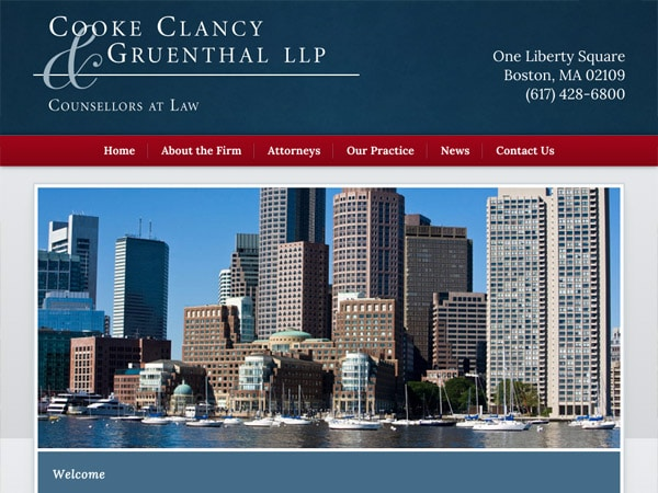 Mobile Friendly Law Firm Webiste for Cooke Clancy & Gruenthal, LLP