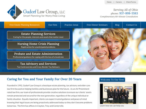 Mobile Friendly Law Firm Webiste for Gudorf Law Group, LLC