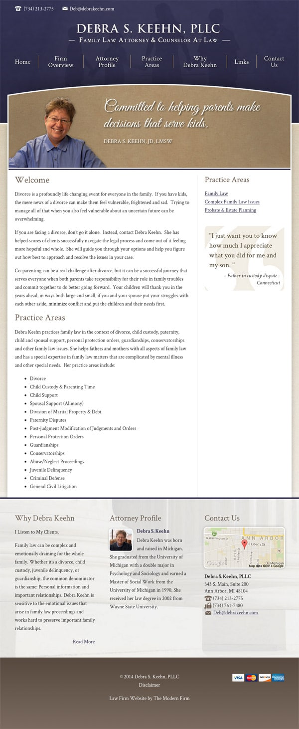 Law Firm Website Design for Debra S. Keehn, PLLC
