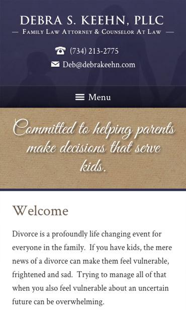 Responsive Mobile Attorney Website for Debra S. Keehn, PLLC
