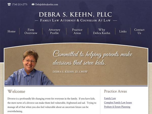 Mobile Friendly Law Firm Webiste for Debra S. Keehn, PLLC