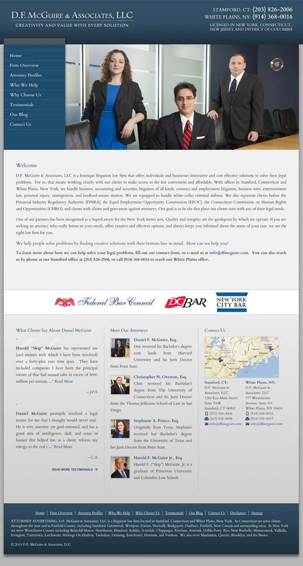 Law Firm Website Design for D.F. McGuire & Associates, LLC