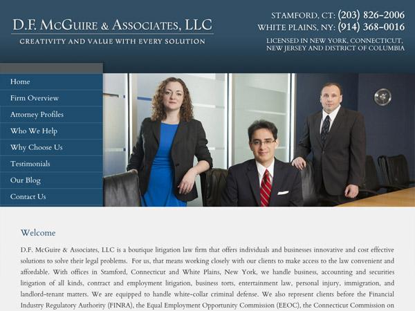 Mobile Friendly Law Firm Webiste for D.F. McGuire & Associates, LLC