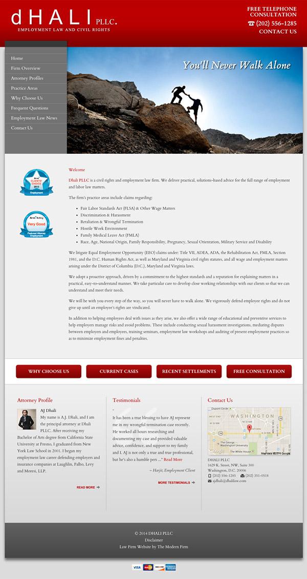 Law Firm Website Design for Dhali PLLC