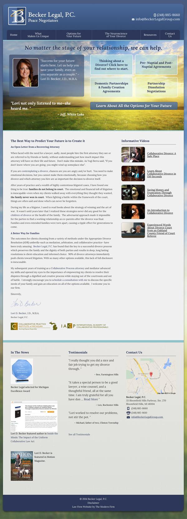 Law Firm Website Design for Becker Legal, P.C.