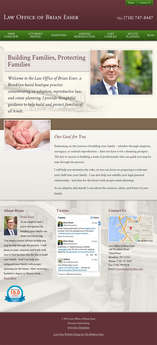 Law Firm Website Design for Law Office of Brian Esser