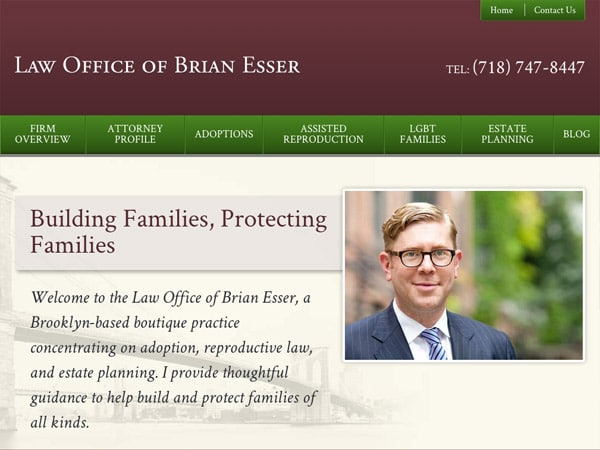 Mobile Friendly Law Firm Webiste for Law Office of Brian Esser