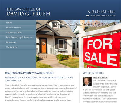 Law Firm Website design for Law Office of David G. Fr…