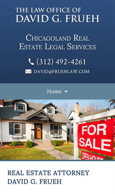 Responsive Mobile Attorney Website for Law Office of David G. Frueh