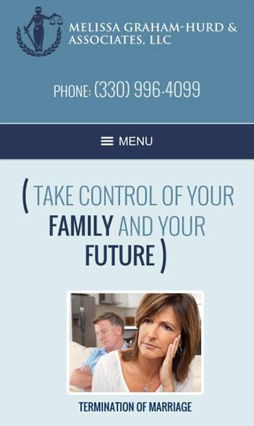 Responsive Mobile Attorney Website for Melissa Graham-Hurd & Associates, LLC