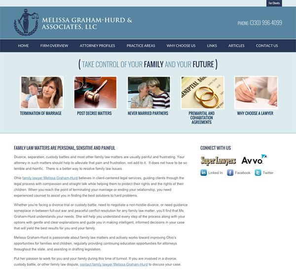 Mobile Friendly Law Firm Webiste for Melissa Graham-Hurd & Associates, LLC