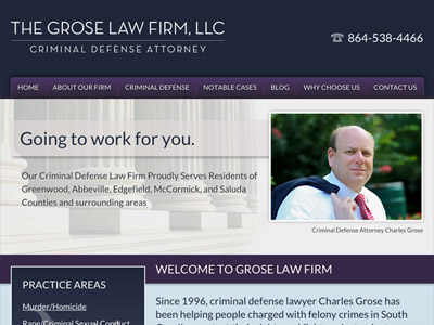 Law Firm Website design for The Grose Law Firm, LLC