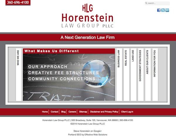 Law Firm Website Design for Horenstein Law Group, PLLC