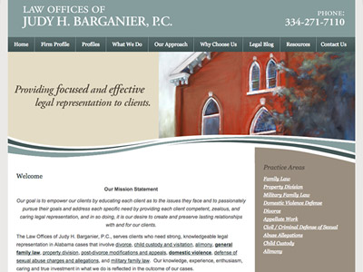 Law Firm Website design for Law Offices of Judy H. Ba…