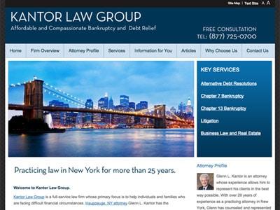 Law Firm Website design for Kantor Law Group