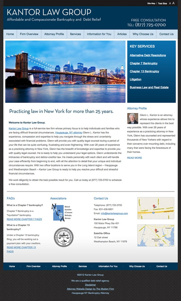 Law Firm Website Design for Kantor Law Group