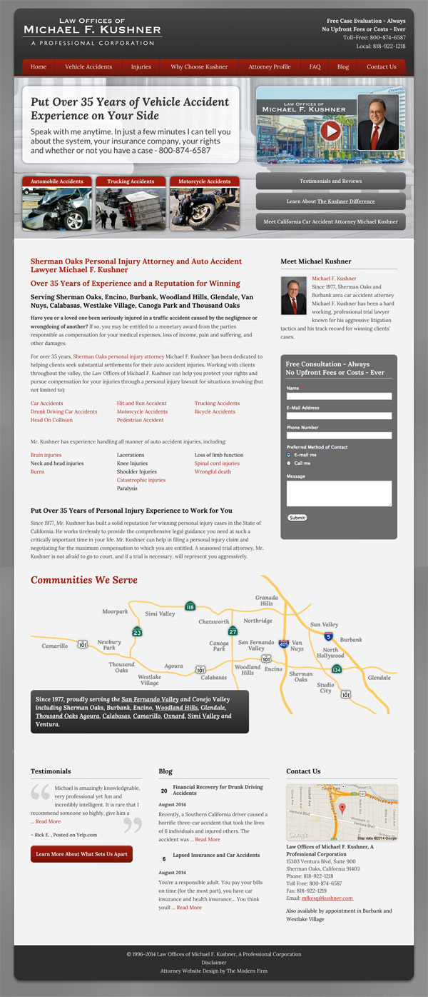 Law Firm Website Design for Law Offices of Michael F. Kushner
