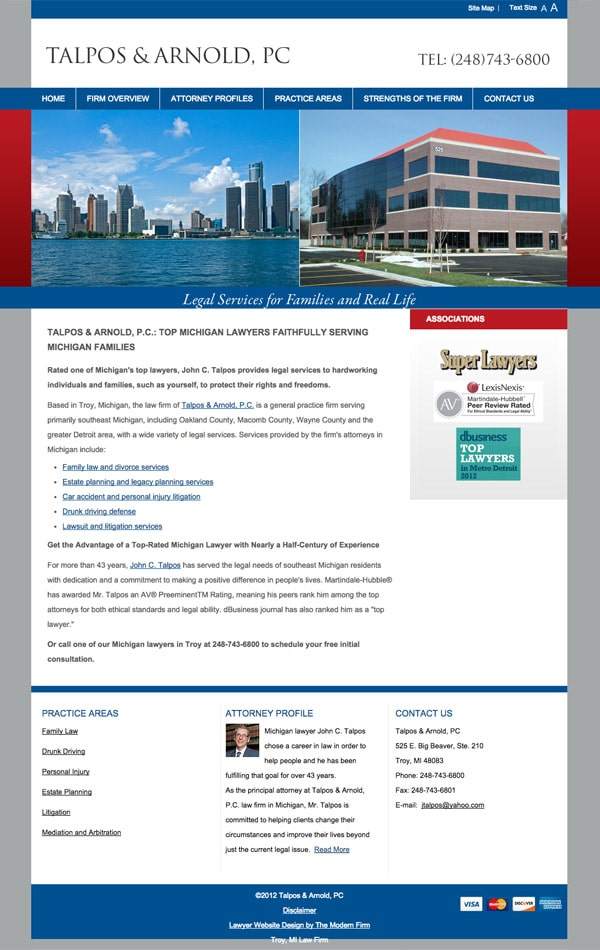 Law Firm Website Design for Talpos & Arnold