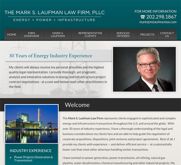 Mobile Friendly Law Firm Webiste for The Mark S. Laufman Law Firm, PLLC