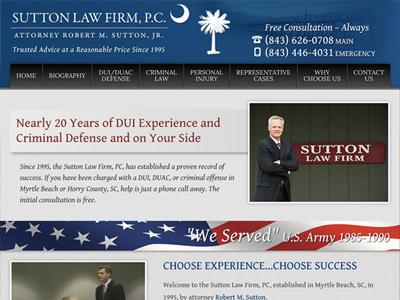 Law Firm Website design for Sutton Law Firm, P.C.