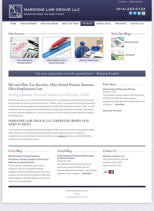 Law Firm Website Design for Nardone Law Group, LLC