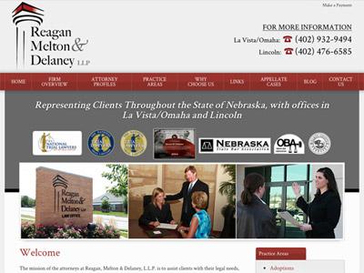 Law Firm Website design for Reagan, Melton & Delaney,…