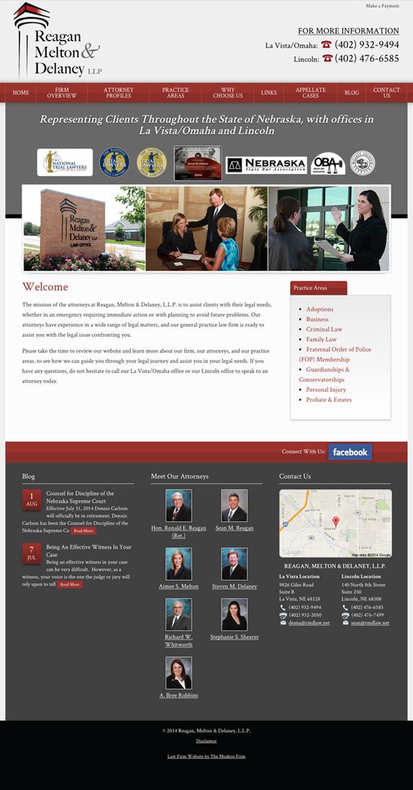 Law Firm Website Design for Reagan, Melton & Delaney, L.L.P.