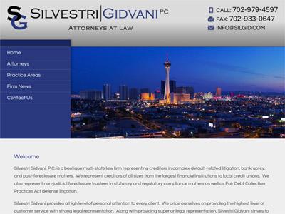 Law Firm Website design for Silvestri Gidvani, P.C.