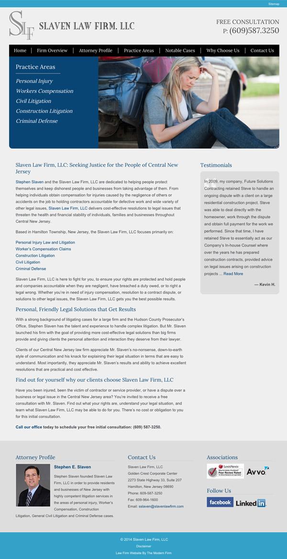 Law Firm Website Design for Slaven Law Firm, LLC