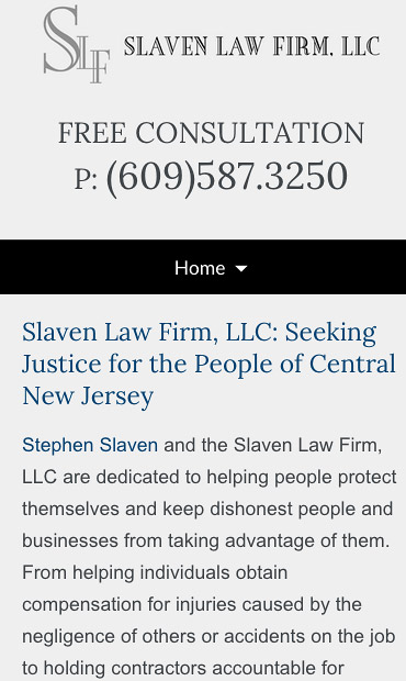 Responsive Mobile Attorney Website for Slaven Law Firm, LLC