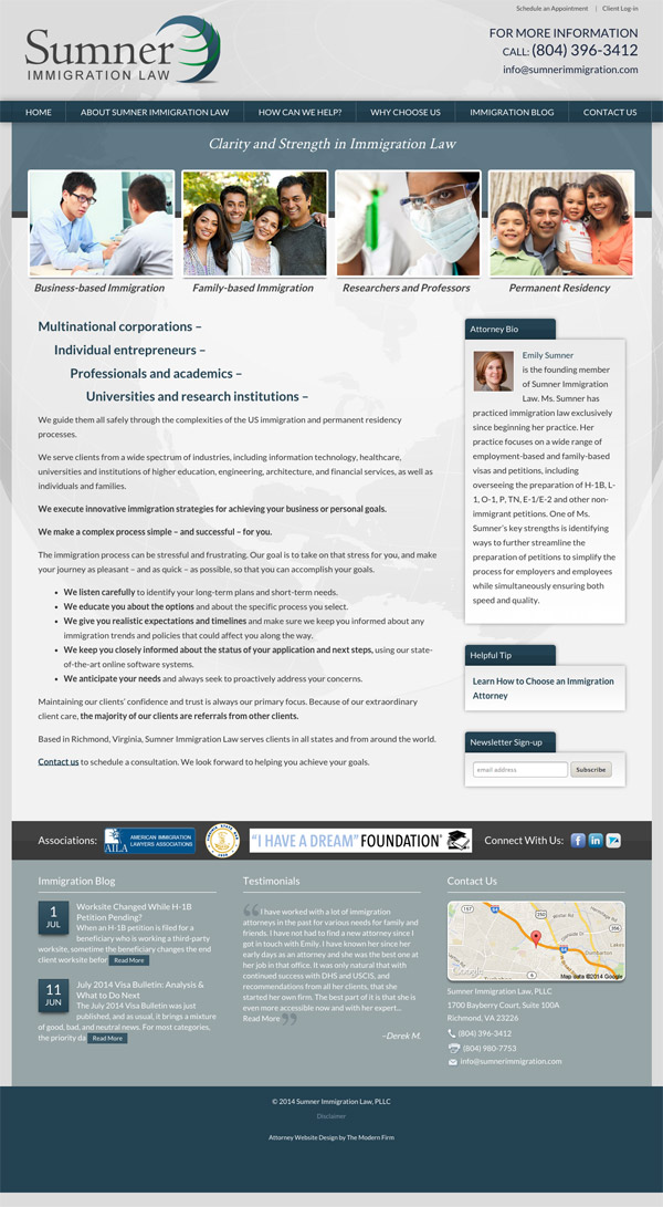 Law Firm Website Design for Sumner Immigration Law, PLLC