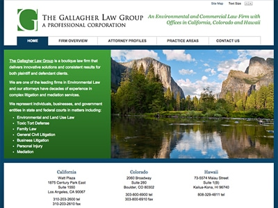 Law Firm Website design for Gallagher & Gallagher