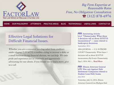 Law Firm Website design for Law Office of William J.…