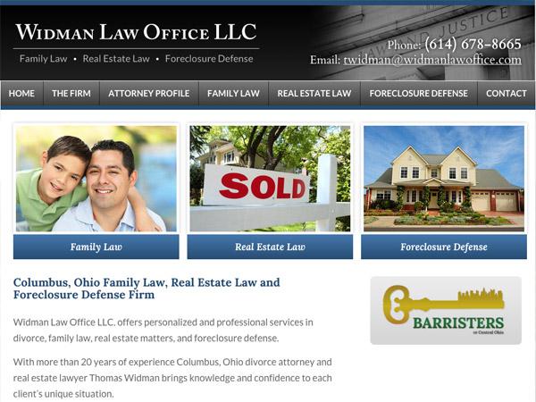 Mobile Friendly Law Firm Webiste for Widman Law Office LLC