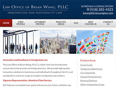 Law Firm Website design for Law Office of Brian Wang,…