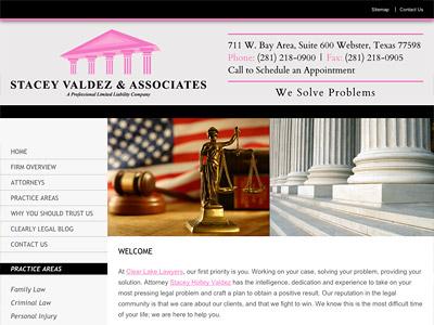 Webster Texas Law Firm Website Design