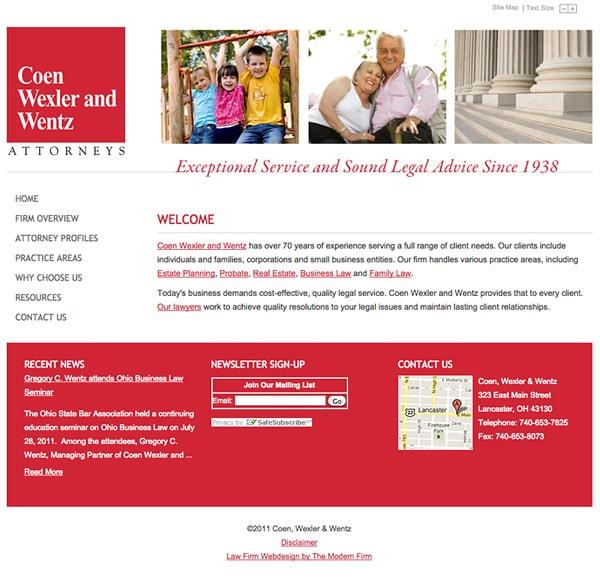 Law Firm Website Design for Coen, Wexler & Wentz