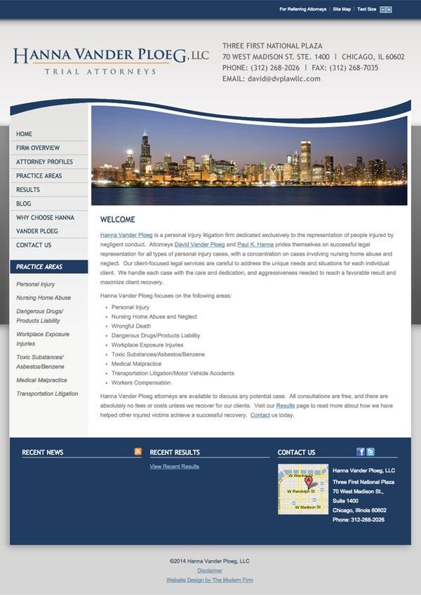 Law Firm Website Design for Hanna Vander Ploeg, LLC