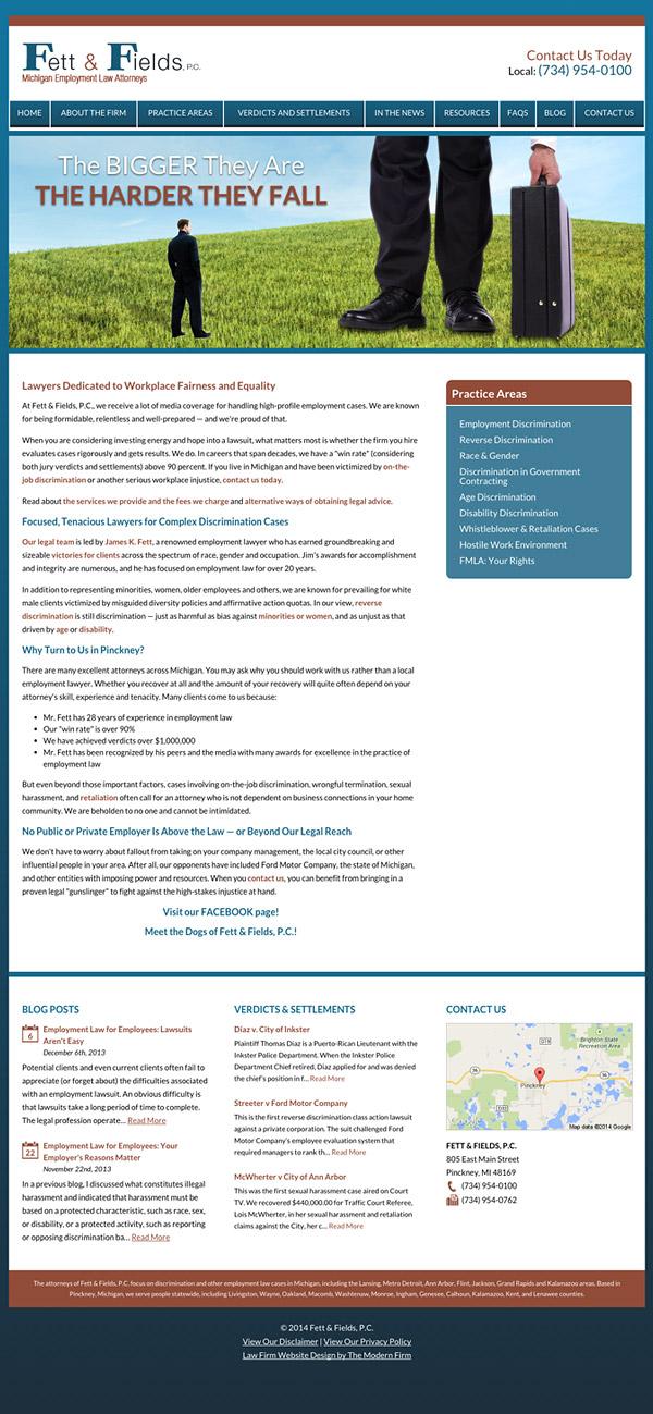 Law Firm Website Design for Fett & Fields, P.C.