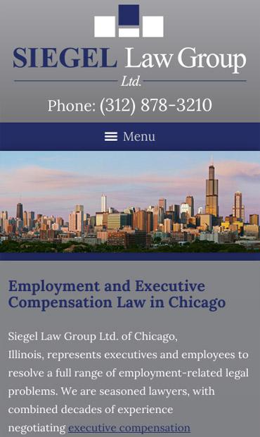 Responsive Mobile Attorney Website for Siegel Law Group Ltd.