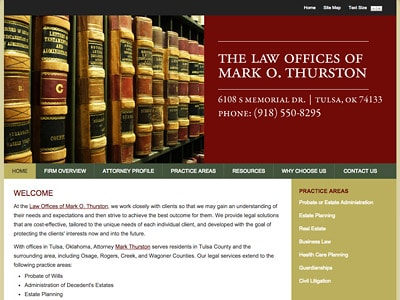 Law Firm Website design for The Law Offices of Mark O…