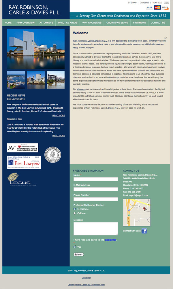 Law Firm Website Design for Ray, Robinson, Carle & Davies, P.L.L.