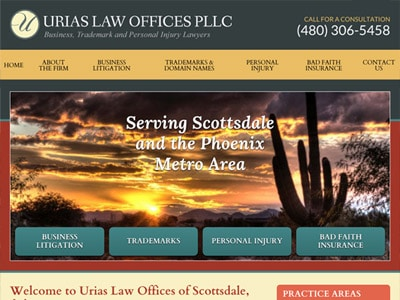 Law Firm Website design for Urias Law Offices PLLC