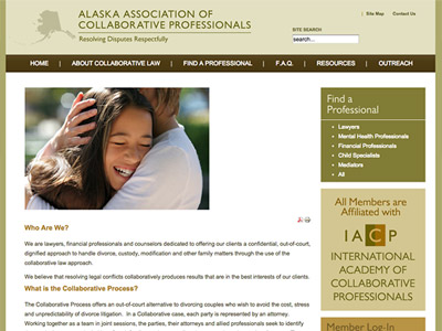 Law Firm Website design for Alaska Association of Col…