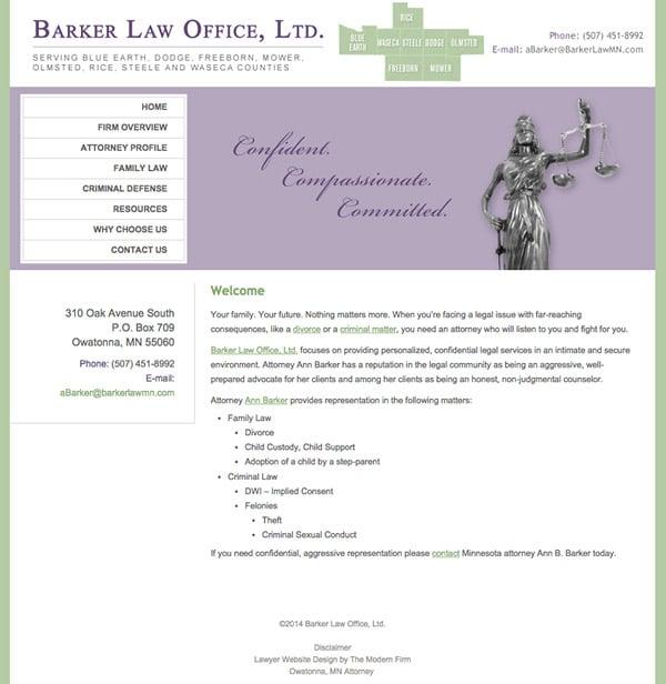 Law Firm Website Design for Barker Law Office, Ltd.