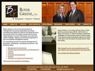 Law Firm Website design for Boyer Greene, LLC