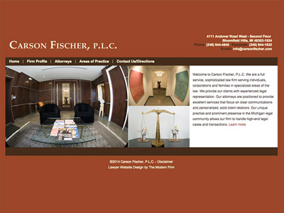 Law Firm Website design for Carson Fischer, P.L.C.
